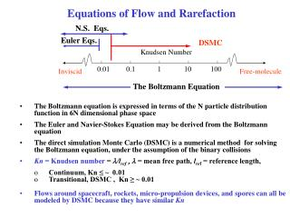 Equations of Flow and Rarefaction