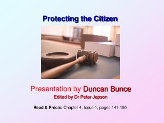 Protecting the Citizen
