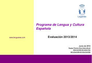 Programa de Lengua y Cultura Española Evaluación 2013/2014