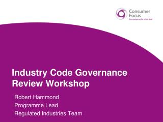 Industry Code Governance Review Workshop