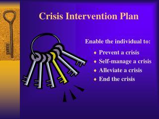 Crisis Intervention Plan