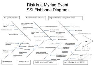 Risk is a Myriad Event  SSI Fishbone Diagram