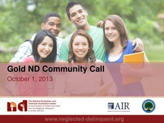 Gold ND Community Call October 1, 2013