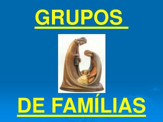 GRUPOS  DE FAMÍLIAS