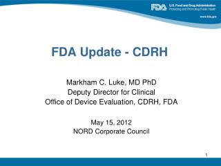 FDA Update - CDRH