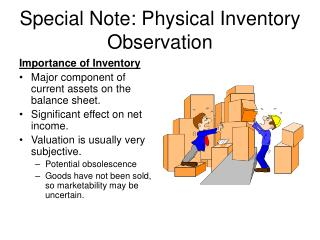 Special Note: Physical Inventory Observation