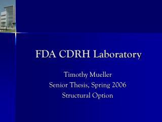 FDA CDRH Laboratory