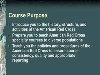 Course Purpose