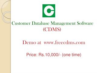 Customer  Database Management Software (CDMS)  Demo at  freecdms