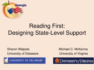 Reading First: Designing State-Level Support