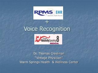 +  Voice Recognition