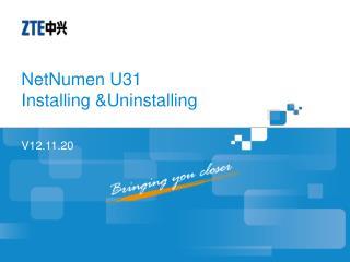 NetNumen U31  Installing &Uninstalling