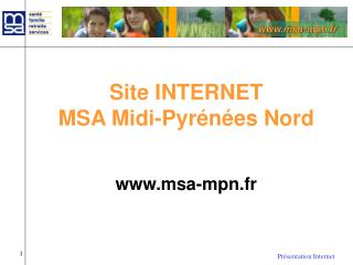 Site INTERNET  MSA Midi-Pyrénées Nord msa-mpn.fr