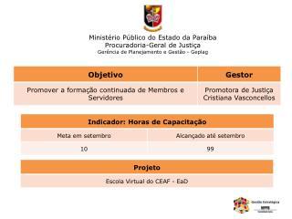 Ministério Público do Estado da Paraíba Procuradoria-Geral de Justiça