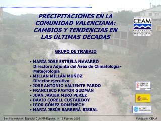 PRECIPITACIONES EN LA COMUNIDAD VALENCIANA: CAMBIOS Y TENDENCIAS EN LAS ÚLTIMAS DÉCADAS