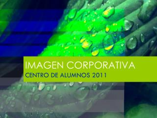 IMAGEN CORPORATIVA CENTRO DE ALUMNOS 2011