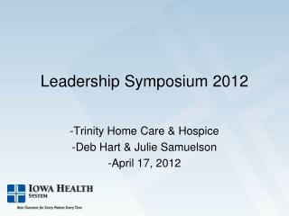 Leadership Symposium 2012