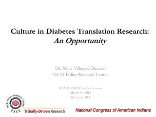 Culture in Diabetes Translation Research: An Opportunity