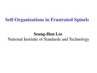 Self-Organizations in Frustrated Spinels