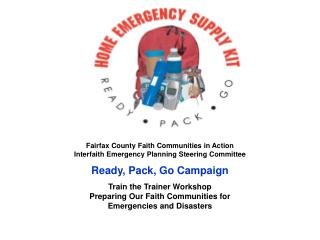 Fairfax County Faith Communities in Action Interfaith Emergency Planning Steering Committee