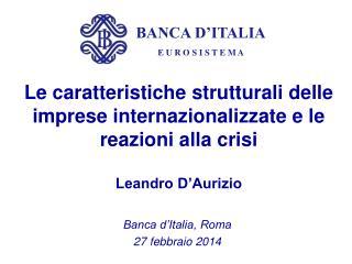 Banca d'Italia, Roma  27 febbraio 2014