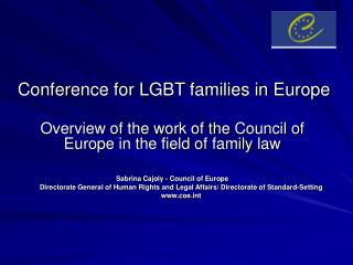 Conference for LGBT families in Europe