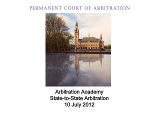 Arbitration  Academy State-to-State Arbitration 10 July 2012