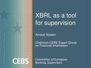 XBRL as a tool for supervision