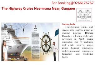 Serviced Apartments in The Highway Cruise  Neemrana Gurgaon