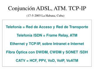 Conjunción ADSL, ATM. TCP-IP