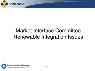 Market Interface Committee Renewable Integration Issues