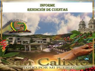 INFORME  RENDICIÓN DE CUENTAS