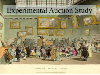 Experimental Auction Study
