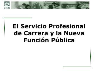 El Servicio Profesional de Carrera y la Nueva Funci n P blica