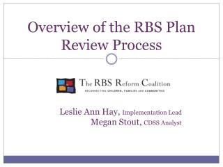 Overview of the RBS Plan Review Process
