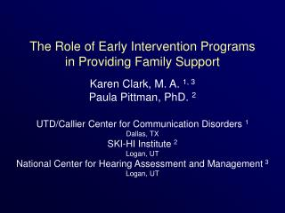 The Role of Early Intervention Programs in Providing Family Support