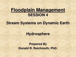 Floodplain Management SESSION 4