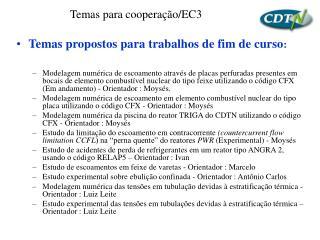 Temas para cooperação/EC3