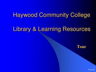 Haywood Community College Library & Learning Resources