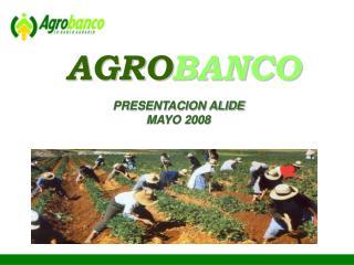 PRESENTACION ALIDE  MAYO 2008