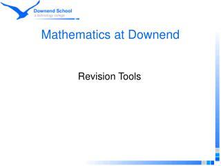 Mathematics at Downend