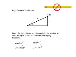 Right Triangle Trig Review