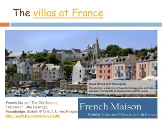 Holiday Villas in France