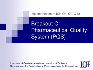 Workshop C Pharmaceutical Quality System PQS