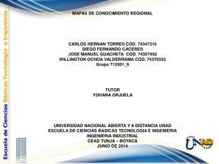 MAPAS DE CONOCIMIENTO REGIONAL CARLOS HERNAN TORRES CÓD. 74347316 DIEGO FERNANDO CACERES