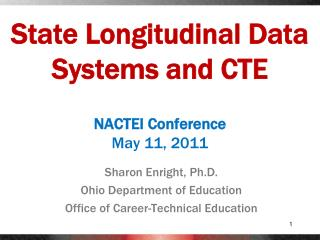 State Longitudinal Data Systems and CTE