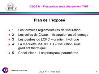 CEOS fr – Fissuration sous chargement THM
