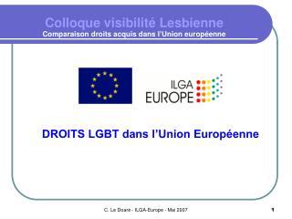 Colloque visibilité Lesbienne Comparaison droits acquis dans l'Union européenne