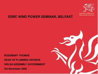 ESRC WIND POWER SEMINAR, BELFAST