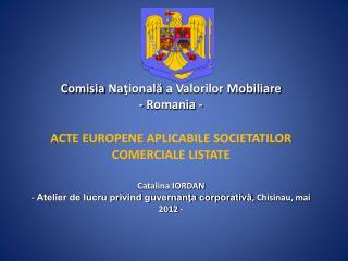 Comisia  Na ?ional?  a Valorilor Mobiliare - Romania -